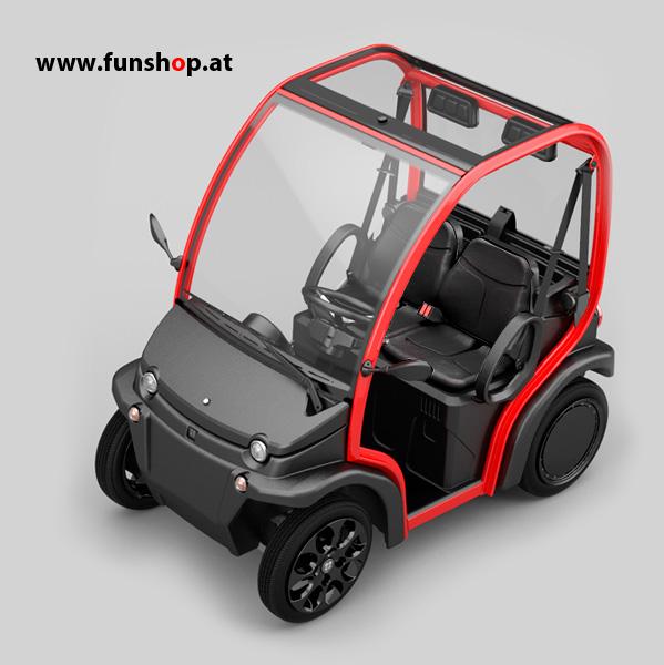 Biro kleines leichtes Elektroauto mit Wechselakku beim Experten für Elektromobilität im FunShop Wien testen und kaufen