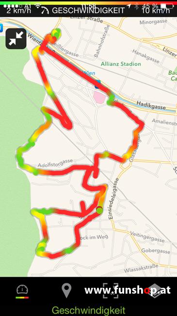 Der FunShop Wien unterwegs mit dem elektrischen Einrad Kingsong KS14 durch den 13 Bezirk der steilen Lainzer Tiergarten Strecke