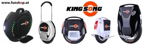 Elektrisches Einrad Kingsong KS14 KS16 und KS18 beim Experten für Elektromobilität im FunShop Wien testen probefahren und kaufen