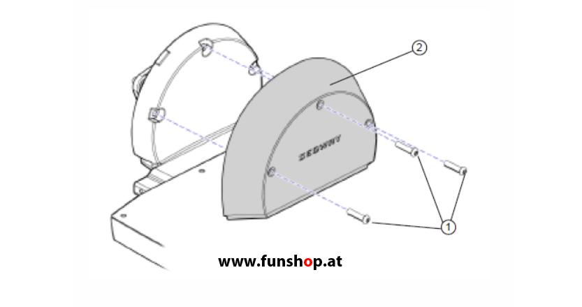 Ersatzteile spare parts Segway i2 x2 Getriebeabdeckung beim Experten für Elektromobilität im FunShop Wien kaufen