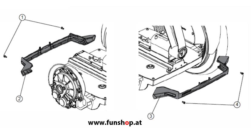 Ersatzteile spare parts Segway i2 x2 Konsolenabdeckung 2 beim Experten für Elektromobilität im FunShop Wien kaufen