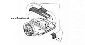 Ersatzteile spare parts Segway i2 x2 Konsolenabdeckung beim Experten für Elektromobilität im FunShop Wien kaufen