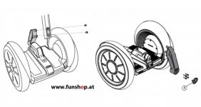 Ersatzteile spare parts Segway i2 x2 Lenkeraufnahme beim Experten für Elektromobilität im FunShop Wien kaufen