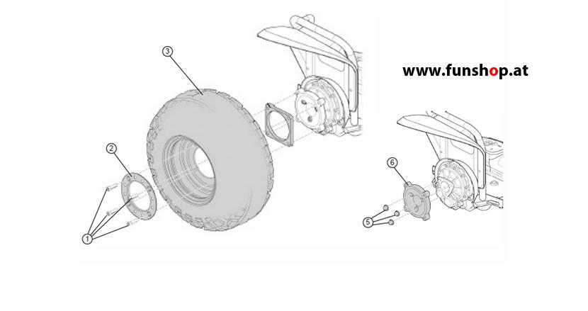 Ersatzteile spare parts Segway x2 Golf Turf Reifen beim Experten für Elektromobilität im FunShop Wien kaufen