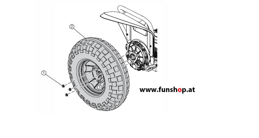 Ersatzteile spare parts Segway x2 Reifen Felgen beim Experten für Elektromobilität im FunShop Wien kaufen