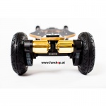 Evolve Bamboo GTX All-Terrain Longboard elektrisches Skateboard von hinten beim Experten für Elektromobilität im FunShop Wien testen und kaufen