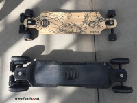 Evolve GT Bamboo Street und GT Carbon All Terrain elektrisches Longboard Skateboard Größenvergleich beim Experten für Elektromobilität im FunShop Wien Österreich kaufen und testen