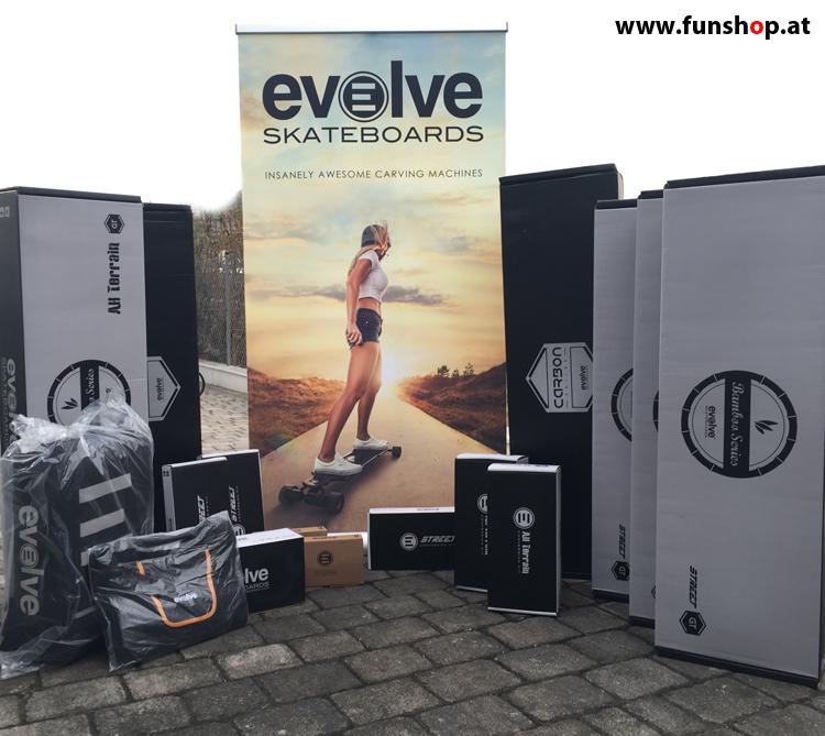Evolve GT Carbon Bamboo Street All Terrain Longboard elektrisches Skateboard beim Experten für Elektromobilität im FunShop Wien kaufen