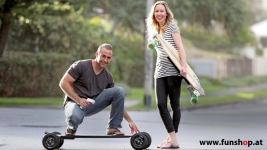 Evolve Skateboard Longboard founded by Jeff and Fleur Anning available in FunShop vienna