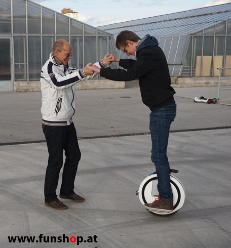 FunShop beim Unicycle-Training