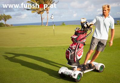 Golfboard der neue elektrische Golf Trolley der Spass macht im FunShop Wien kaufen testen und probefahren