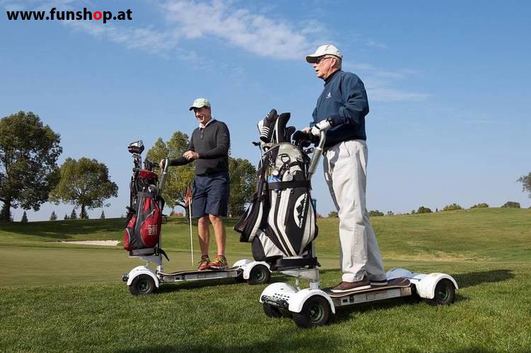 Golfboard der neue elektrische Golf Trolley für Jung und Alt der Spass am Golfplatz macht im FunShop Wien kaufen testen und probefahren