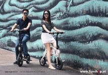 Inmotion P1 elektrisches Faltrad in schwarz oder weiss beim Experten für Elektromobilität im FunShop Wien testen probefahren und kaufen