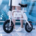 Inmotion P1 elektrisches Klapprad in weiss unten beim Experten für Elektromobilität im FunShop Wien testen probefahren und kaufen