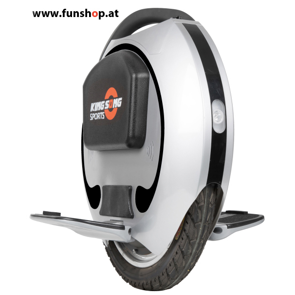 Kingsong KS16S silber matt 828 Wh elektrisches Einrad mit 1200 Watt 16 Zoll beim Experten für Elektromobilität im FunShop Wien testen und kaufen