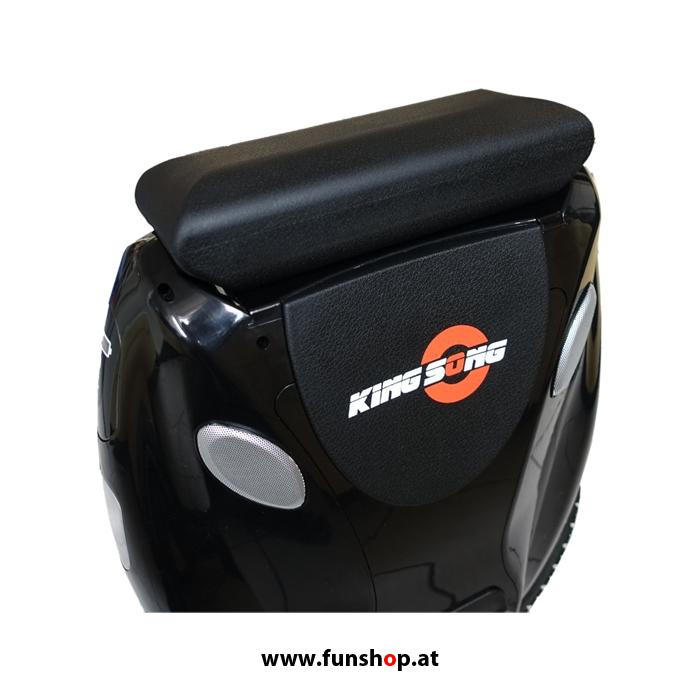 Kingsong KS18 schwarz mit Sitz montiert im FunShop Wien testen und kaufen