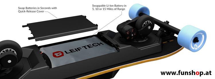 Leif Esnowboard Elektrosnowboard Akku wechselbar beim Experten für Elektromobilität im FunShop Wien testen und kaufen
