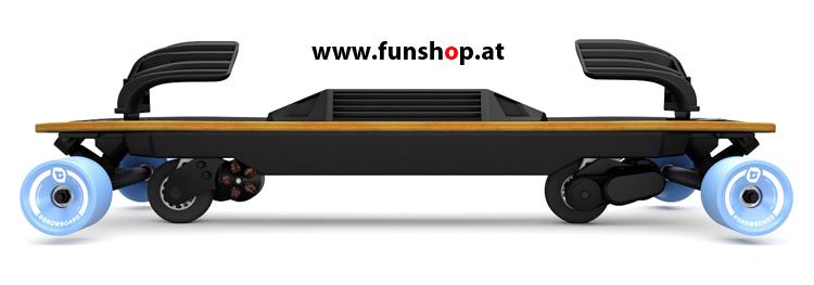 Leif Esnowboard Elektrosnowboard von der Seite beim Experten für Elektromobilität im FunShop Wien testen und kaufen