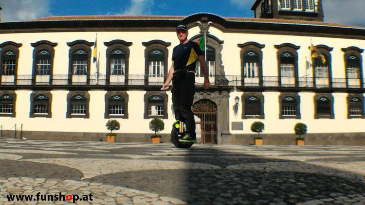 Mit dem elektrischen Einrad auf Madeira Funchal Stadt