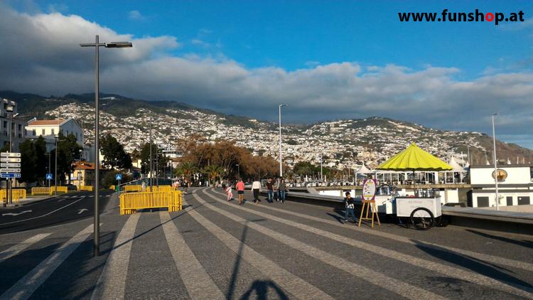 Mit dem elektrischen Einrad auf Madeira Funchal