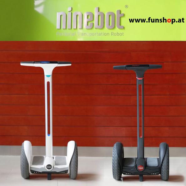 Ninebot E Plus Segway in weiss und schwarz im FunShop Wien testen kaufen und probefahren 2