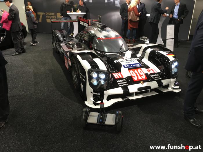 Ninebot Mini Pro schwarz und Porsche 919 im FunShop Wien probefahren und kaufen