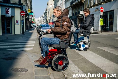 Nino Robotics der neue elektrische selbstbalancierende Rollstuhl der Pierre Bardina Spass macht im FunShop Wien kaufen testen und probefahren