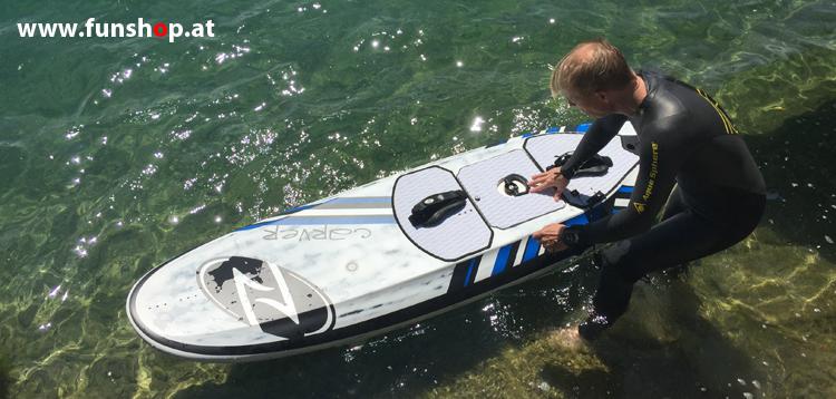 Onean Carver elektrisches Jetboard erster Versuch electric surfboard carver first start beim Experten für Elektromobilität im FunShop Wien kaufen