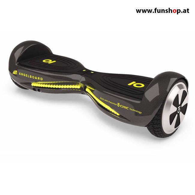 Original IO AngelBoard AB2 Hoverboard Limited Edition Carbon Seite im FunShop Wien kaufen testen und probefahren