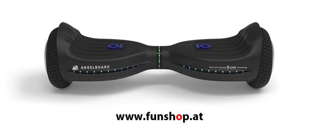 Original IO AngelBoard ABX Hoverboard in Vollgummiausführung von vorne im FunShop Wien kaufen testen und probefahren