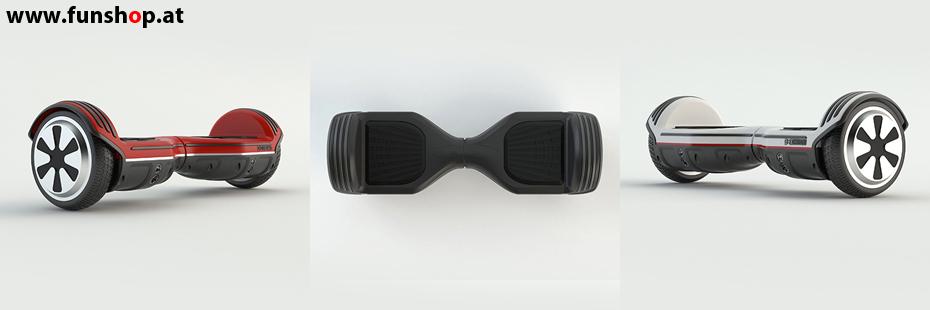 Original Oxboard Hoverboard weiss schwarz rot im FunShop Wien testen und kaufen