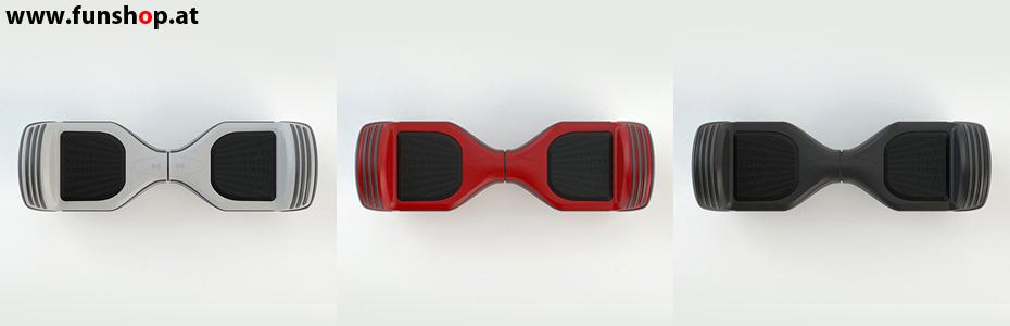 Original Oxboard Hoverboard in rot schwarz weiss im FunShop Wien testen und kaufen
