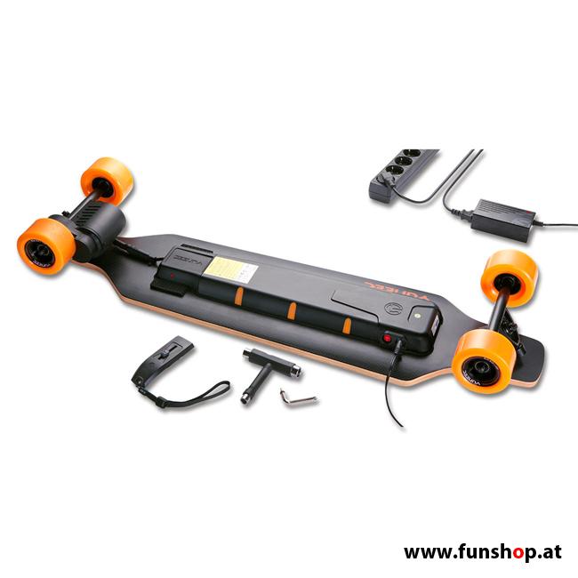 Original Yuneec E-GO elektrisches Longboard Skateboard komplett im FunShop Wien kaufen testen und probefahren