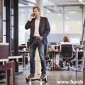 Oxboard Hoverboard weiss rot schwarz im Büro im FunShop Wien testen und kaufen 1