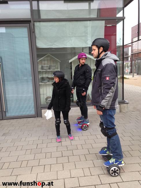 Oxboard und IO Angelboard Hoverboard im FunShop kaufen und testen beim ATV Test mit Andreas Moravec im Bloomfield Leobersdorf SK8 Skate Zone Wettfahrt