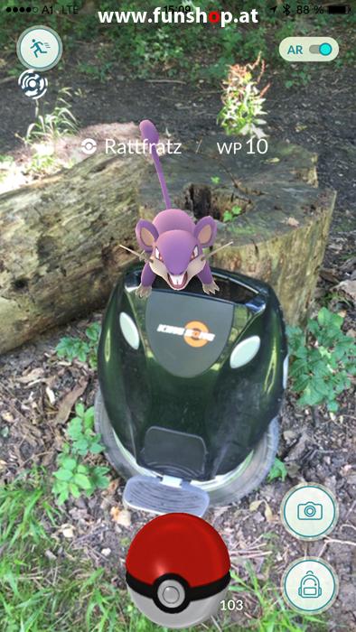 Pokémon Go mit einem elektrischen Einrad von Kingsong Ninebot Inmotion Monowheel Airwheel Solowheel Onewheel Angelboard Hoverboard Oxboard Segway GotWay spielen und Rattfratz finden