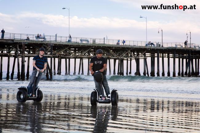 Segway i2 und x2 am Strand im FunShop Wien probe fahren und kaufen