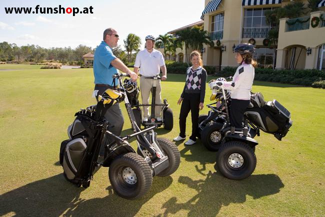 Segway i2 und x2 beim Golf spielen im FunShop Wien probe fahren und kaufen