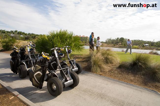 Segway i2 und x2 beim Golf spielen im FunShop Wien testen und kaufen