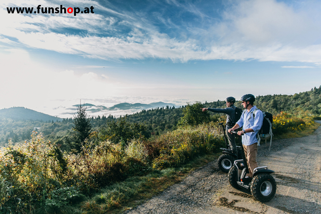 Segway i2 und x2 in den Bergen im FunShop Wien testfahren und kaufen