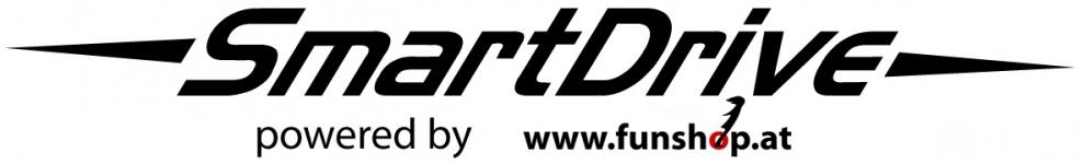 SmartDrive Logo das elektrische Antriebssystem für ihren Rollstuhl mit Frau beim Experten für Elektromobilität im FunShop Wien testen und kaufen