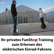 Training Unicycle im FunShop