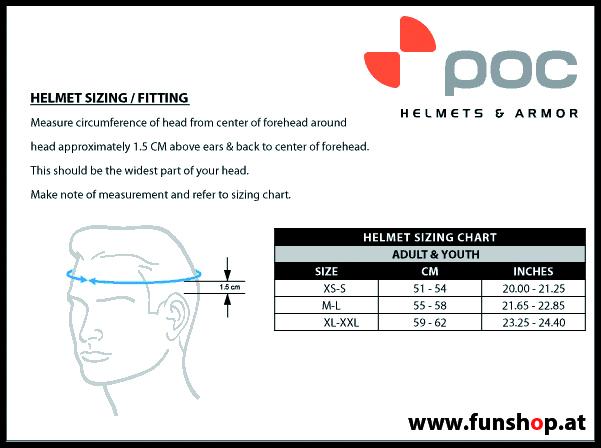 Wie misst man den richtigen Kopfumfang messen bei POC Helmen POC beim Experten für Elektromobilität im FunShop Wien testen und kaufen