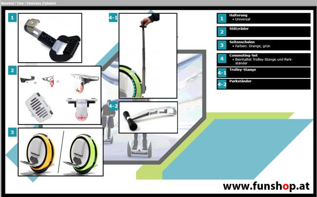 Zubehör und Ersatzteile Ninebot Mini Pro E E plus One E plus One P Segway im FunShop Wien kaufen klein 3
