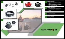 Zubehör und Ersatzteile accessories and spare parts Segway i2 x2 Infokey beim Experten für Elektromobilität im FunShop Wien kaufen