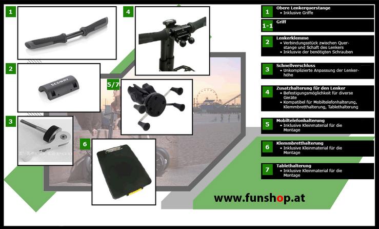 Zubehör und Ersatzteile accessories and spare parts Segway i2 x2 Lenker beim Experten für Elektromobilität im FunShop Wien kaufen