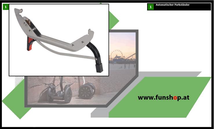 Zubehör und Ersatzteile accessories and spare parts Segway i2 x2 Ständer beim Experten für Elektromobilität im FunShop Wien kaufen