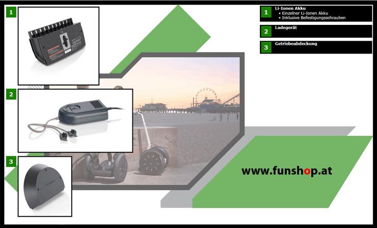 Zubehör und Ersatzteile accessories and spare parts Segway i2 x2 Technik beim Experten für Elektromobilität im FunShop Wien kaufen