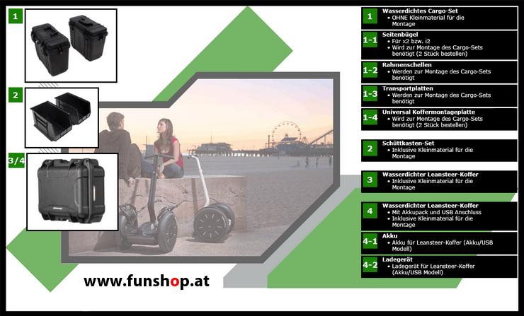 Zubehör und Ersatzteile accessories and spare parts Segway i2 x2 Transport 3 beim Experten für Elektromobilität im FunShop Wien kaufen