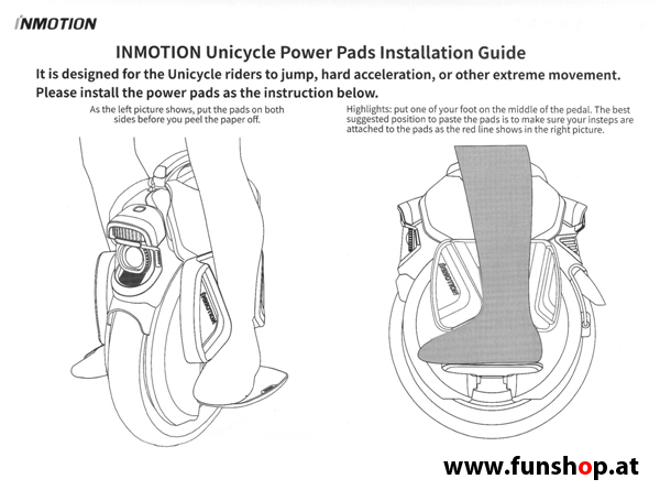 inmotion-v11-side-power-pads-electric-unicycle-funshop-vienna-austria